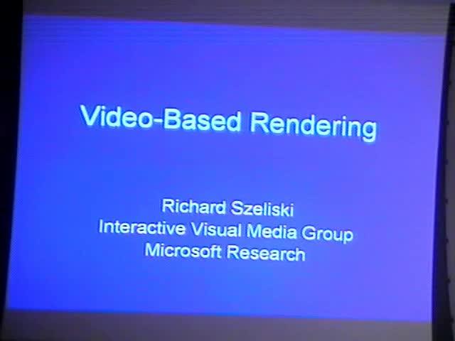 Video-based Rendering Thumbnail