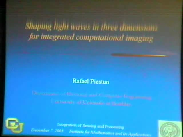 Shaping Light Waves in Three Dimensions for Integrated Computational Imaging Thumbnail