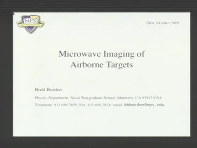 Microwave Imaging of Airborne Targets Thumbnail