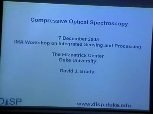 Compressive Optical Spectroscopy Thumbnail