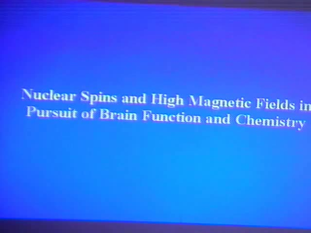 Imaging Brain Activity and Chemistry using High Magnetic Fields Thumbnail