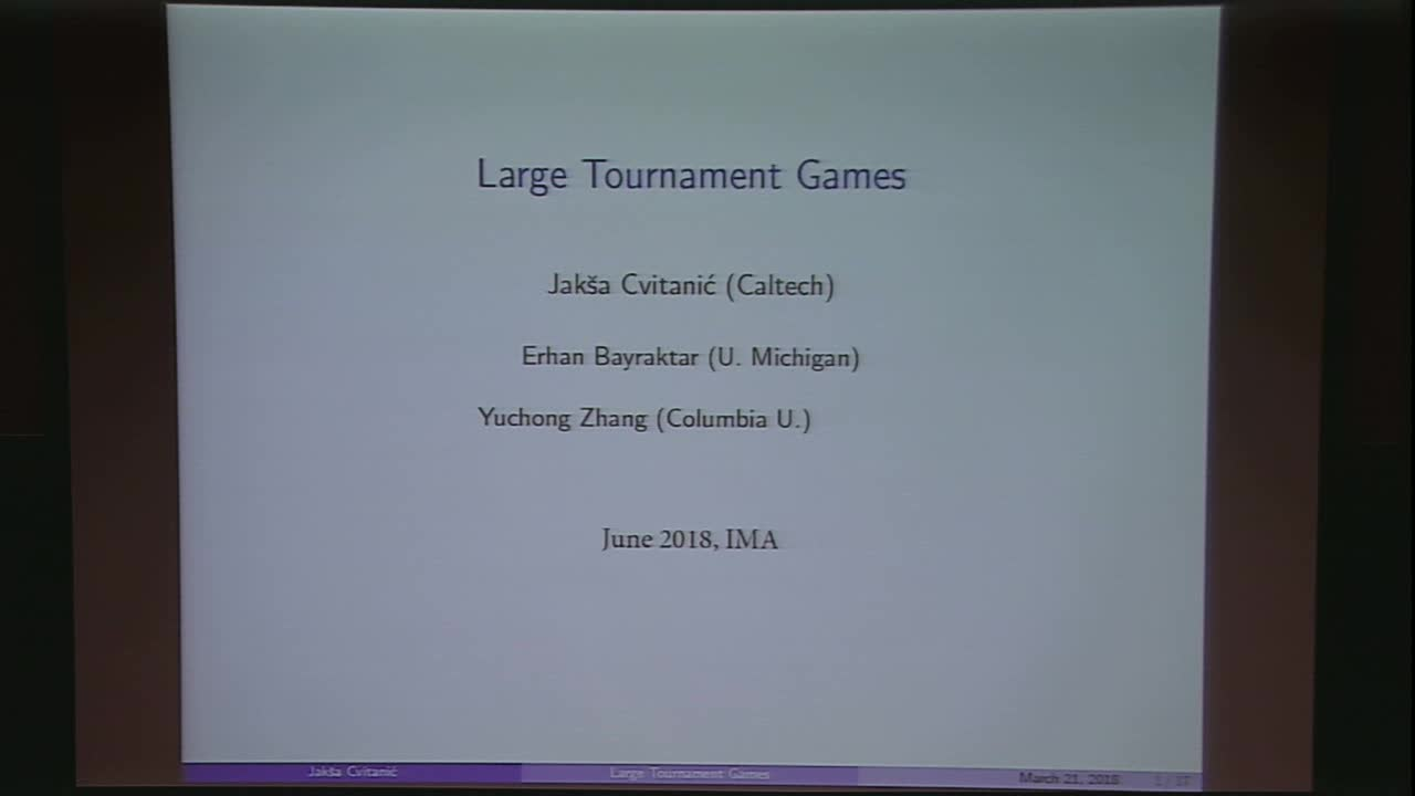 Large tournament games Thumbnail
