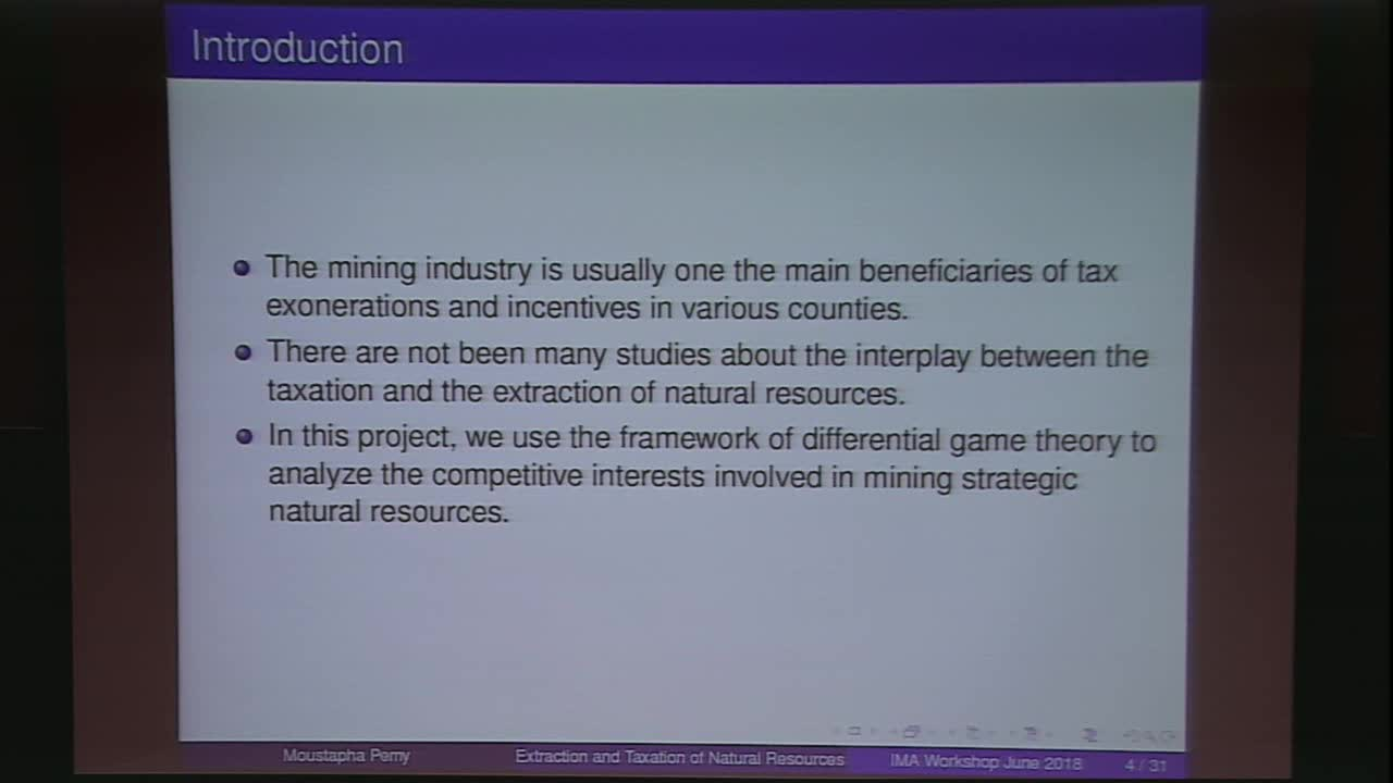 Optimal Extraction and Taxation of Strategic Natural Resources: A Differential Game Approach Thumbnail