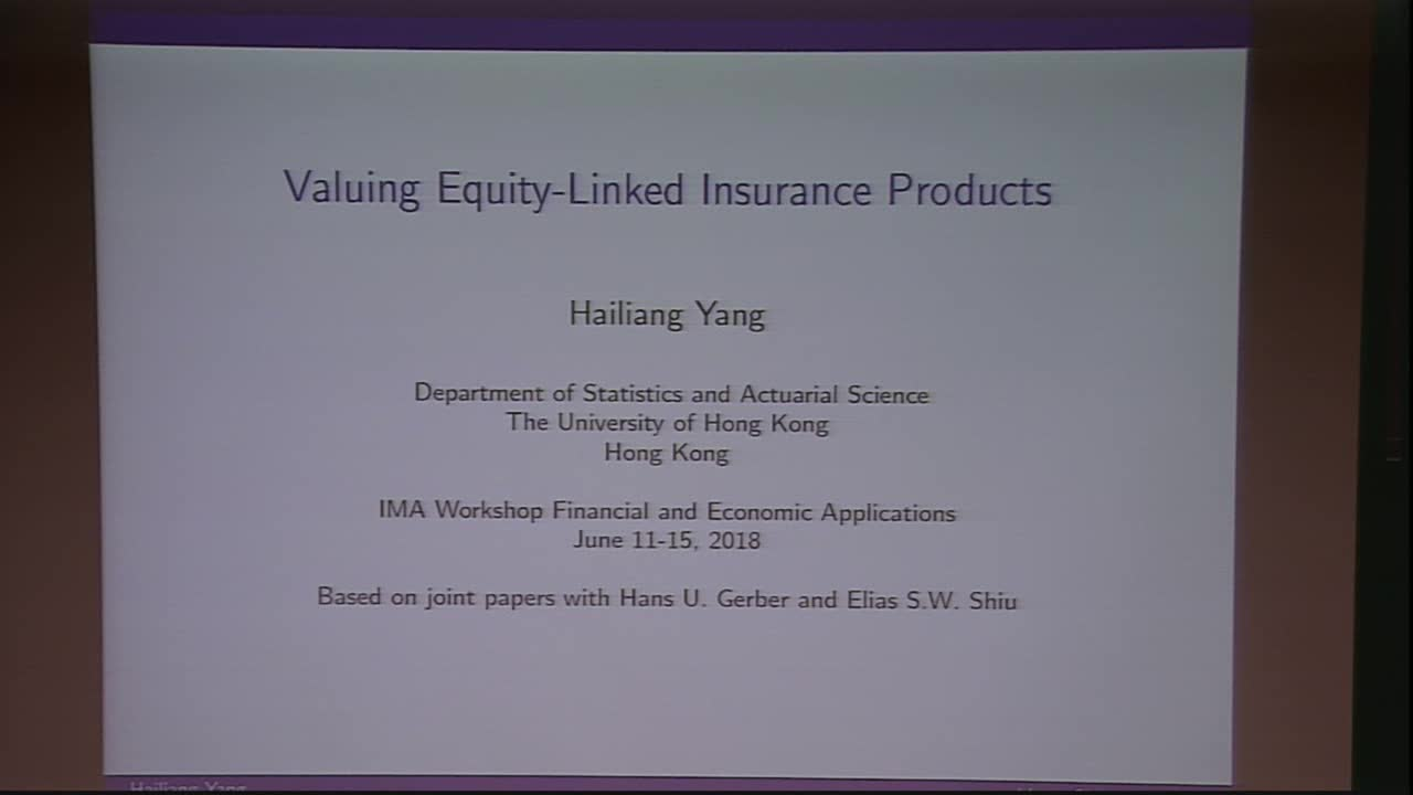 Valuing Equity-Linked Insurance Products Thumbnail