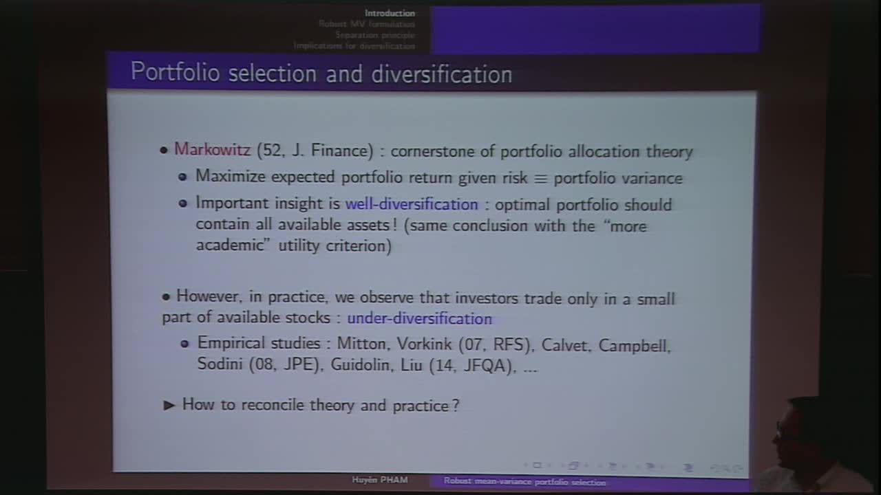 Portfolio diversification and model uncertainty: a robust dynamic mean-variance approach Thumbnail