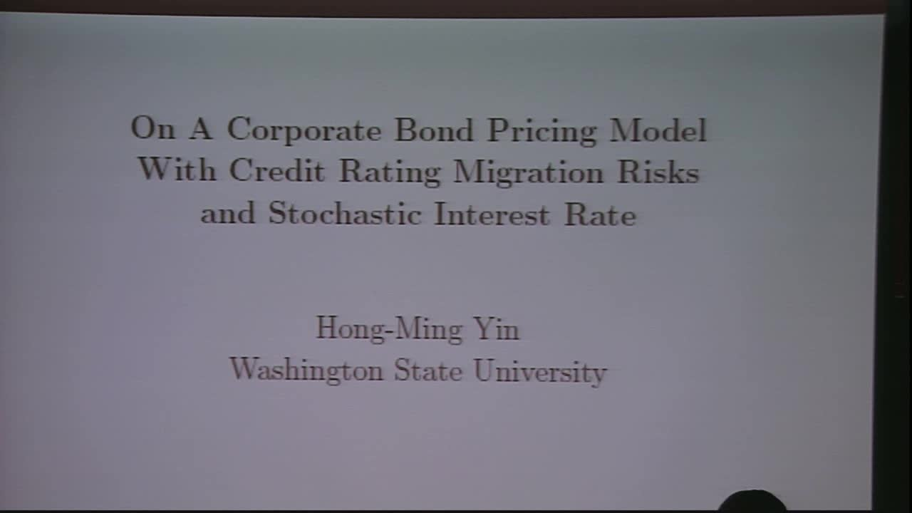 On A Corporate Bond Pricing Model With Credit Rating Migration Risks and Stochastic Interest Rate  Thumbnail