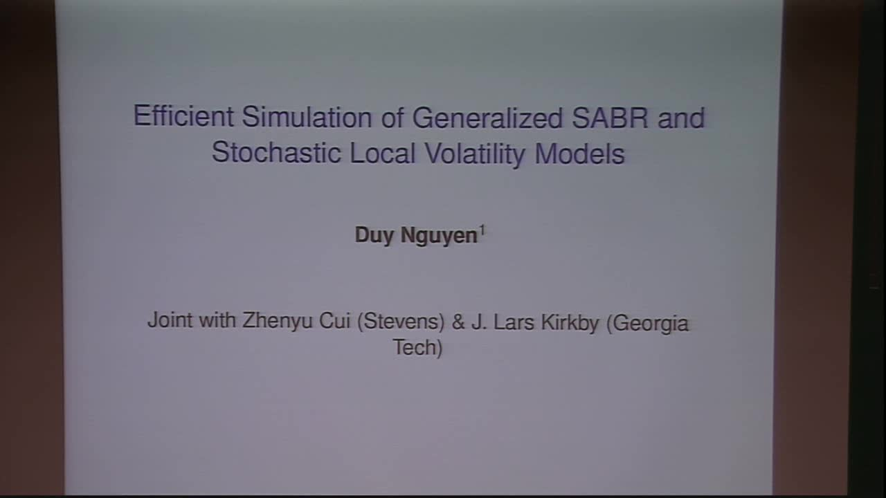 Efficient Simulation of Generalized SABR and Stochastic Local Volatility Models Thumbnail