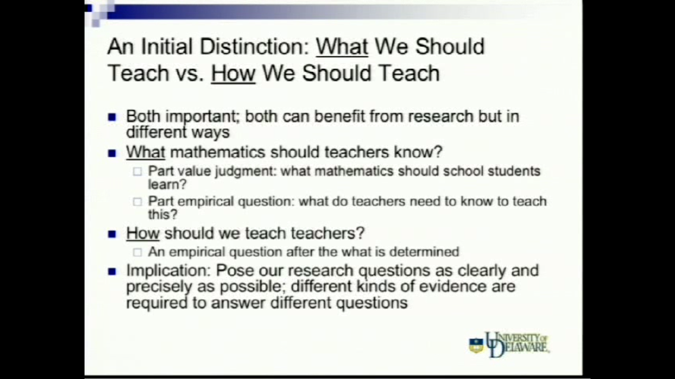 Studying the effectiveness of our efforts to teach teachers mathematics Thumbnail