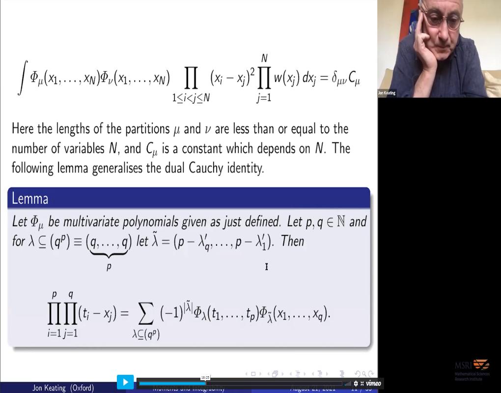 Moments of Characteristic Polynomials and Integrability Thumbnail