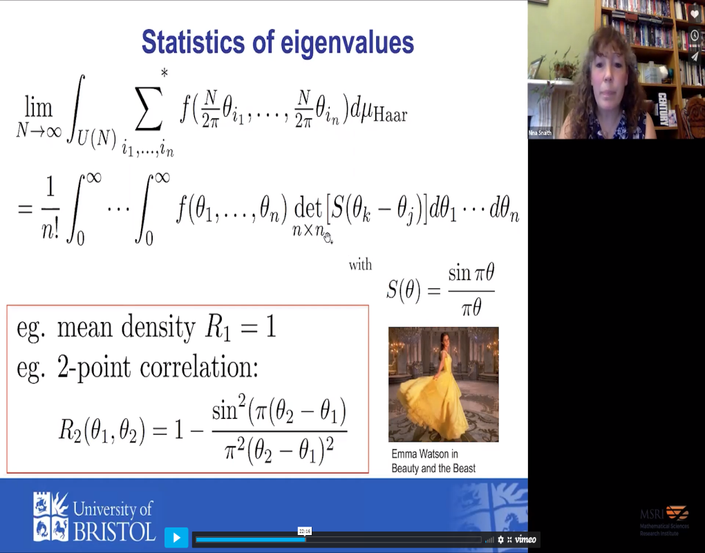 Unearthing random matrix theory in the statistics of L-functions: the story of Beauty and the Beast Thumbnail
